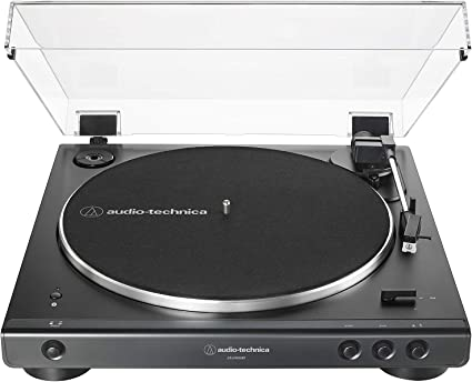 Audio Technica Fully Automatic Stereo Record Player Bluetooth Turntable Black