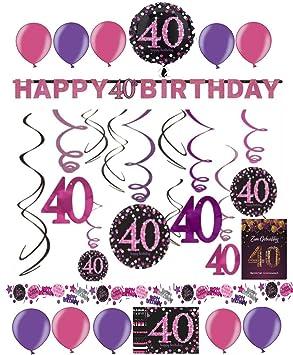 Decoración para 40 cumpleaños pantalla espirales Fiesta ...