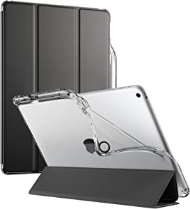 Poetic Lumos X Series Case for iPad 10.2 7th Generation 2019 / 8th Generation 2020 Case, Smart Cover with Apple Pencil Holder, Flexible Soft Clear TPU Back, Slim Fit Trifold Stand Folio Front, Black