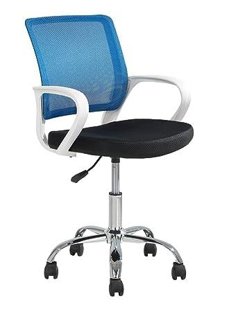 Drehstuhl Schreibtischstuhl für Kinder DAGGY | Mesh | Schwarz | Blau ...
