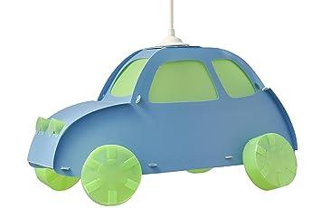R&M Coudert Lampe de Plafond Suspension Chambre Enfant Voiture Bleu ...