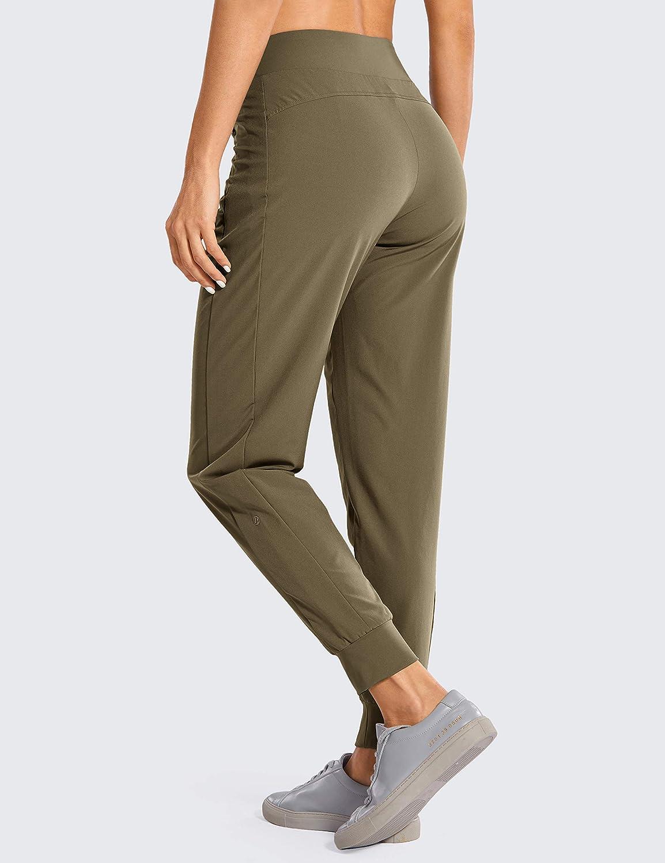 CRZ YOGA Mujer Pantal/ón Casuales Doble Capa No Transparente Pantalones Yoga Bolsillos Laterales con Cremallera Cintura El/ástica