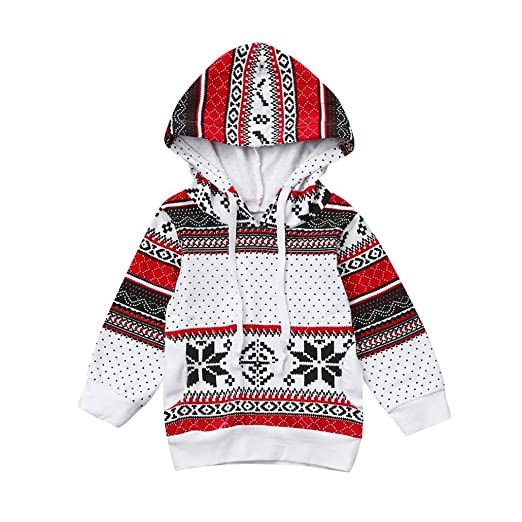 186e9b2393977 Baby Sweatshirt ,UMFun For 1~4 Years old Kids Xmas Hoodie Party Pullover  Tops