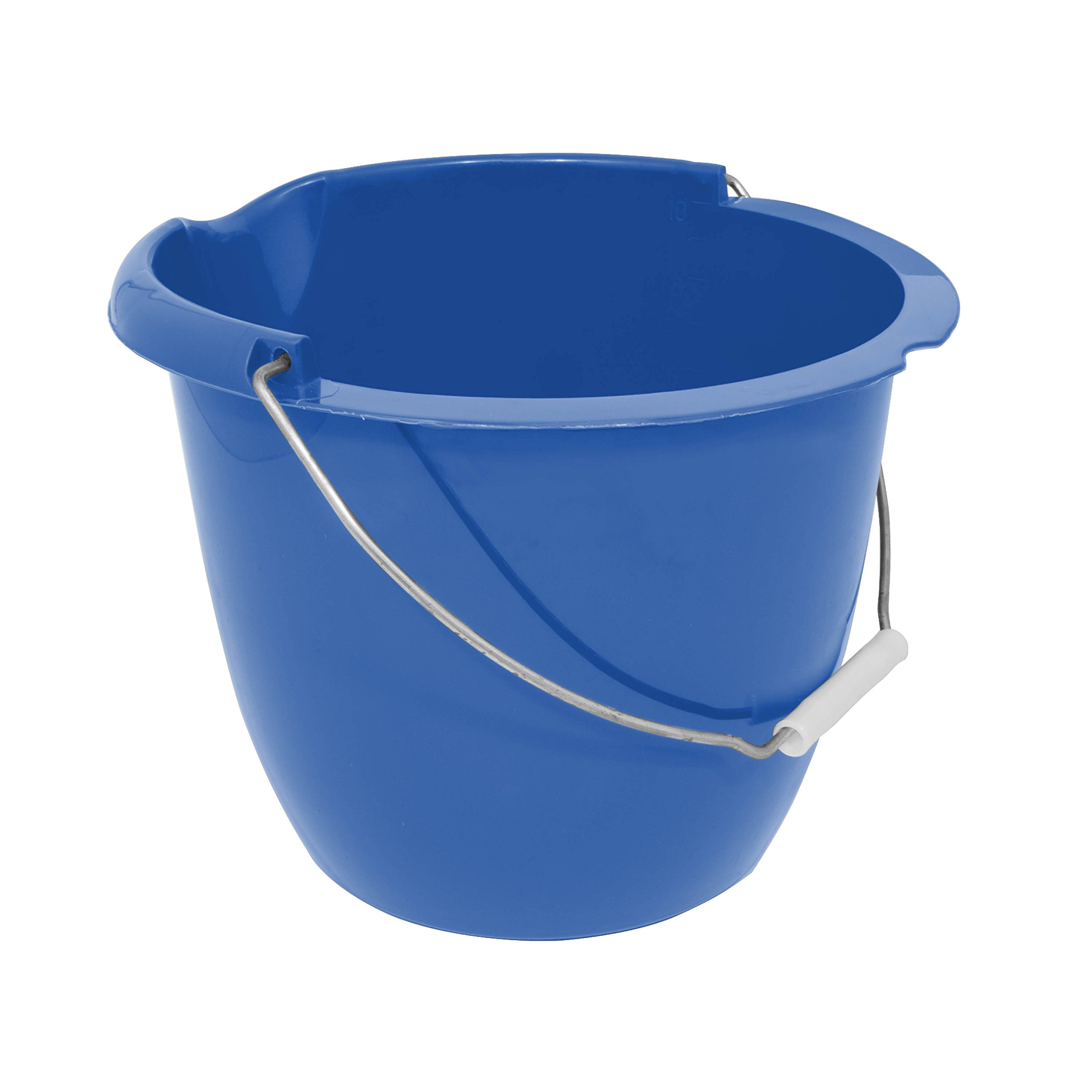 Charles Bentley Plastic Bucket with Pouring Lip 10 Litre Capacity Blue