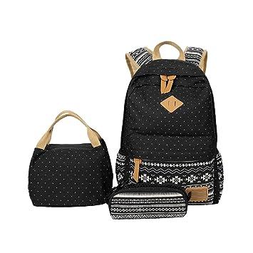 Mochilas Escolares Juveniles Mochila Escolar Juveni Conjunto de 3 para Universitarias Colegio Mochila Bolso Chicas Chico Niña Backpack Bolsa de Hombro ...