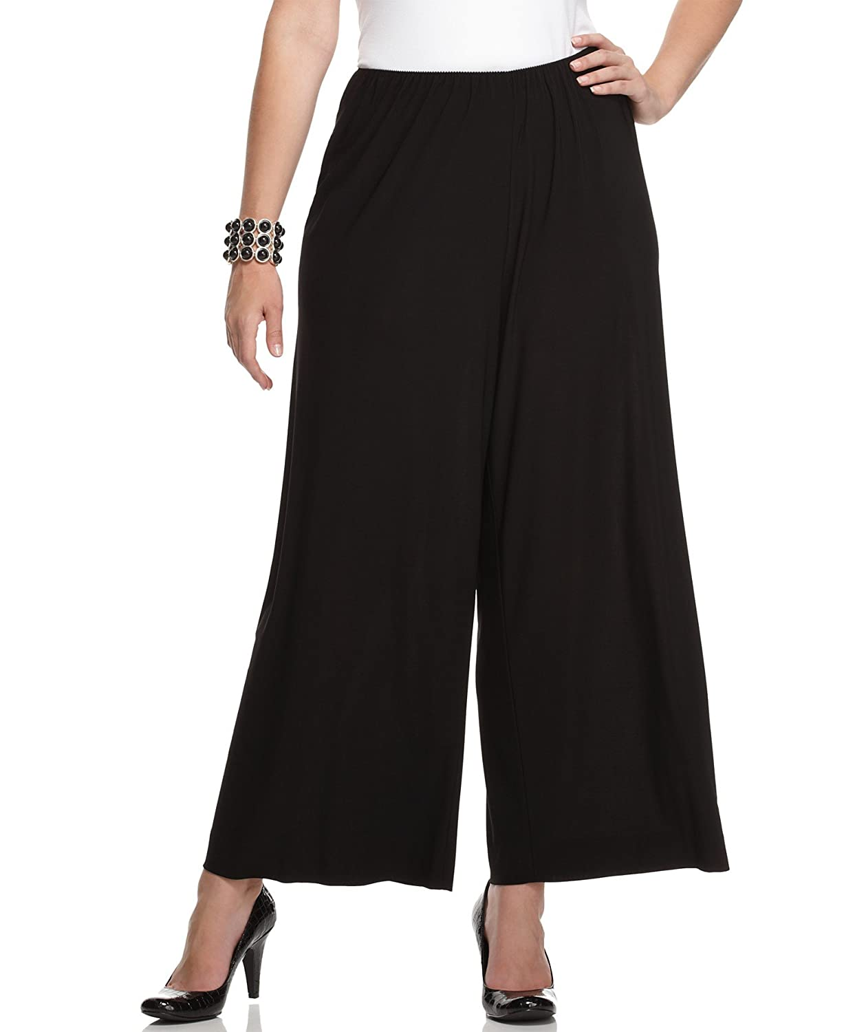 Alex Evenings Women's Stretch Jersey Palazzo Pants