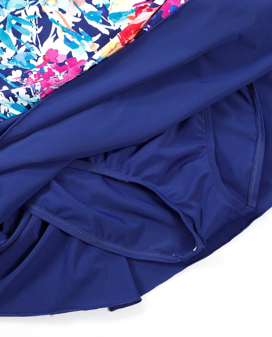 IDrawl Damen Bademode Große Größen Badeanzug Push up Badekleid Einteiler Einteiler Einteiler mit Blaumen Schwimmanzug Figurformender B07F8R2CL1 Badeanzüge Vollständige Palette von Spezifikationen d9c12e