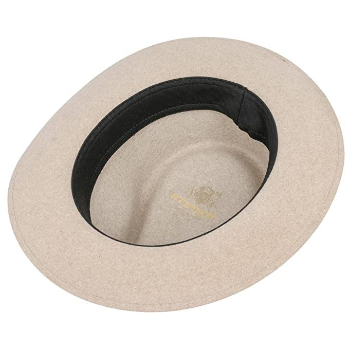 d97972fcda9bd9 Stetson New Orleans Fedora Fur Felt Hat Fedora Felt Hat: Amazon.co.uk:  Clothing