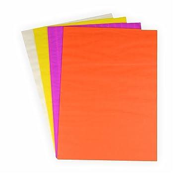 Wabenpapier Bastelset 4 Helle Farben 33x20 Cm Weiß Gelb Orange