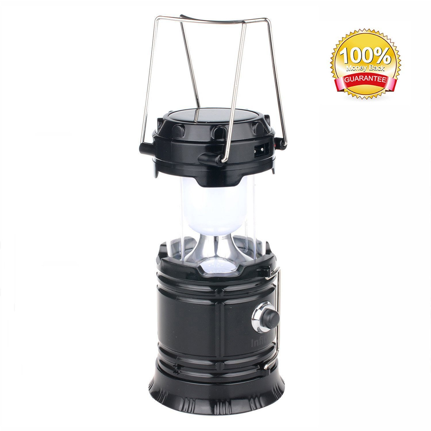 Delightful Solar Lantern: Camping Rechargeable LED Outdoor Lamp Flashlight Brightest  Hanging Camp Pop Up Powered Best Collapsible Emergency Light With Battery  Built In ...