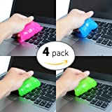 Magic Innovative Super Soft Sticky Dust Cleaning Gel Gum Computer Car PC Laptop Keyboard Universal Dust Cleaner ( Pack of 4)