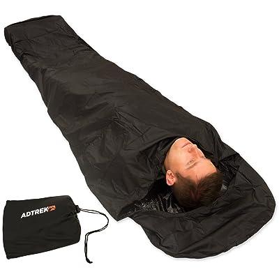 Adtrek - Sursac étanche pour sac de couchage - avec fermeture Éclair - nylon 290T - pour la pêche/le camping