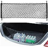 Thie2e Cargo Net Car Rear Envelope Trunk Storage Net Organizer for Mercedes Benz C200 C250 C300 C350 C400 C63