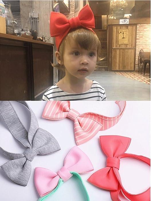Amazon Com Baby Girl Boy Bow Headband Hair Band Adjustable