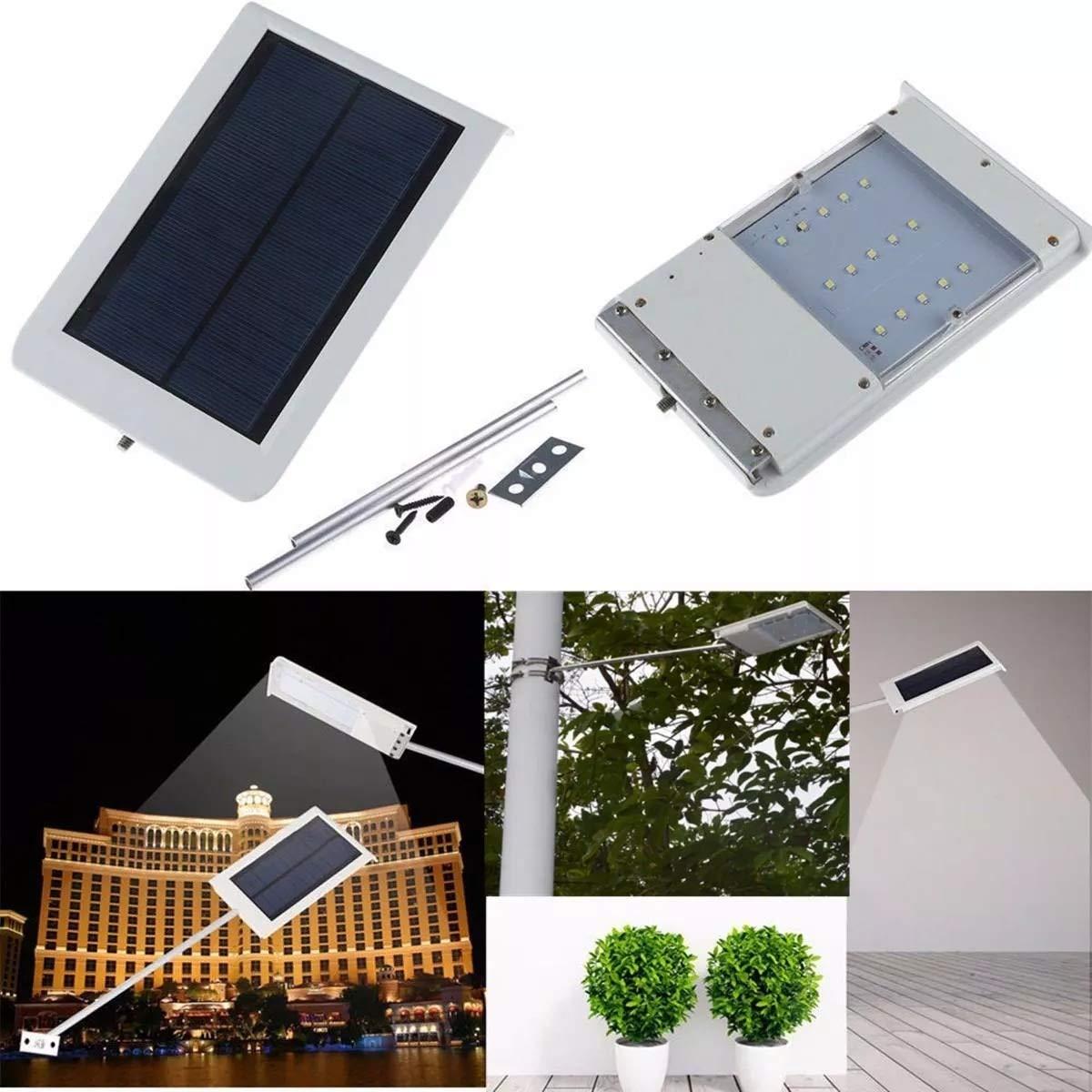LPLCUICAN LED Bulbs 15 LED Solar Ultra Thin Light Sensor Wall Street Outdoor Waterproof Garden Lamp LED Light