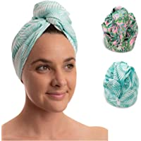 NewLyfe Ultra-Fine Microfiber Hair Towel Wrap – 65x23cm Secure Fit Hair Turban Towel for Wet Hair, Quick Dry, Anti Frizz…