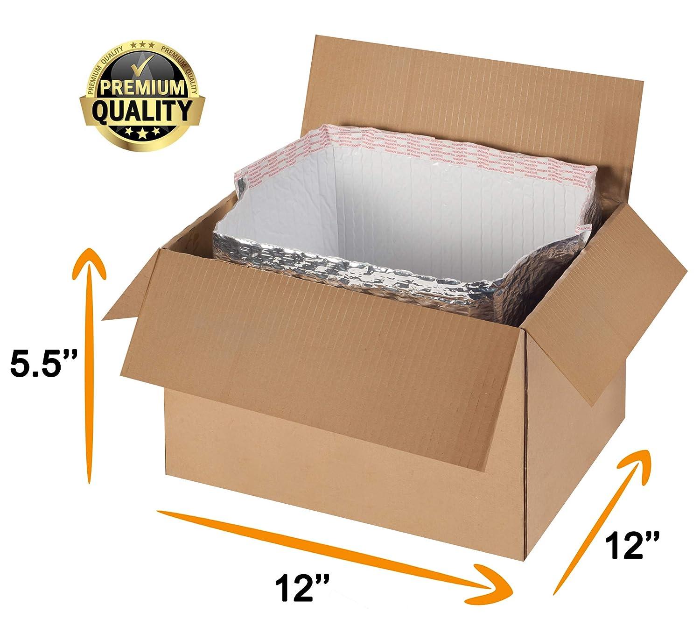 Amazon.com: Paquete de 5 bolsas térmicas de burbujas. Tamaño ...