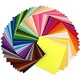 Soledì 60 Colori Feltro e Pannolenci Fogli Colorati Lavoretti di Cucito Bricolage Tessuto Patchwork 30 * 30 cm