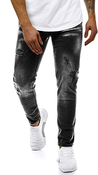 OZONEE Herren Jeans Hose Herrenjeans Jeanshose Skinny