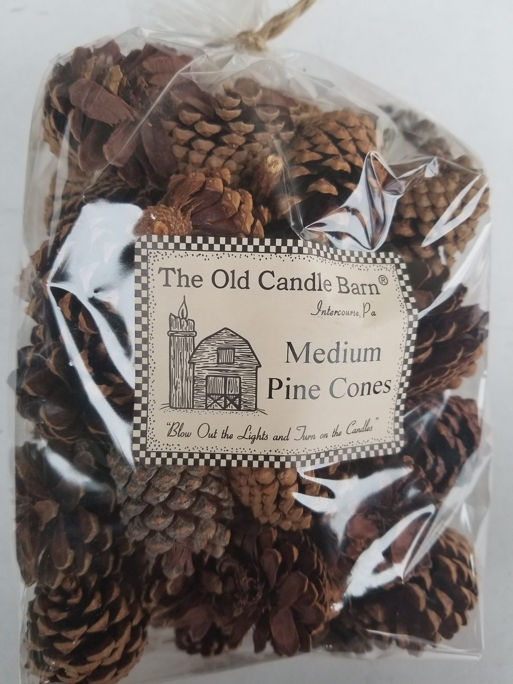 Medium Pinecones - Large Bag Perfect For Weddings or Bowl Fillers - Unscented For Decoration Or Homemade Potpourri - Made In USA by Old Candle Barn