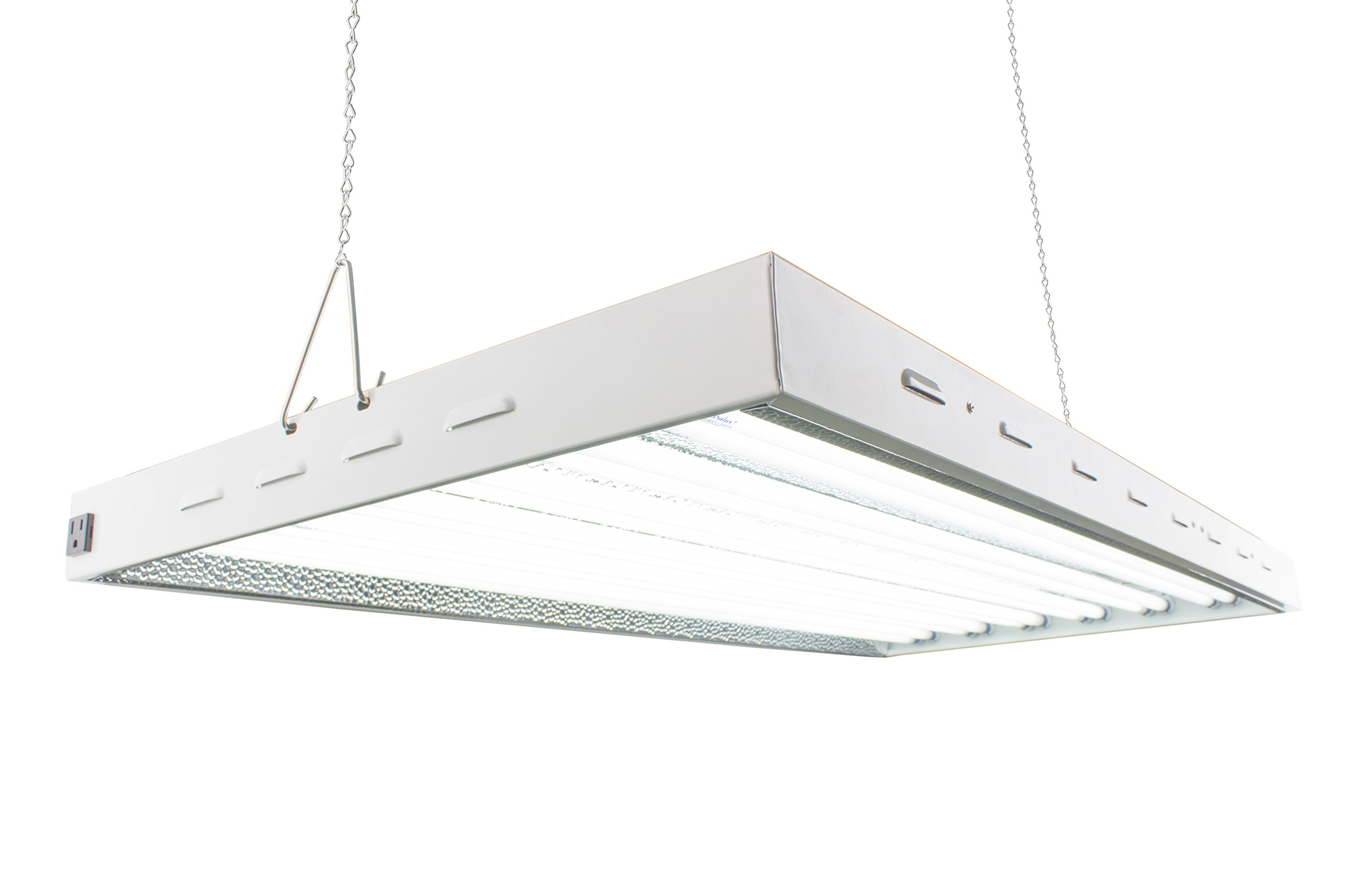 T5 HO Steel Grow Light | 4 FT 12 Lamps | DL8412ST Fluorescent Hydroponic Indoor Fixture | Veg Bulbs