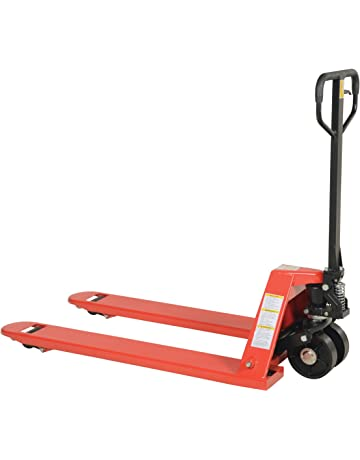 Vestil PM5-2748-S Full Featured Pallet Truck with Steel Wheels, 5500 lbs