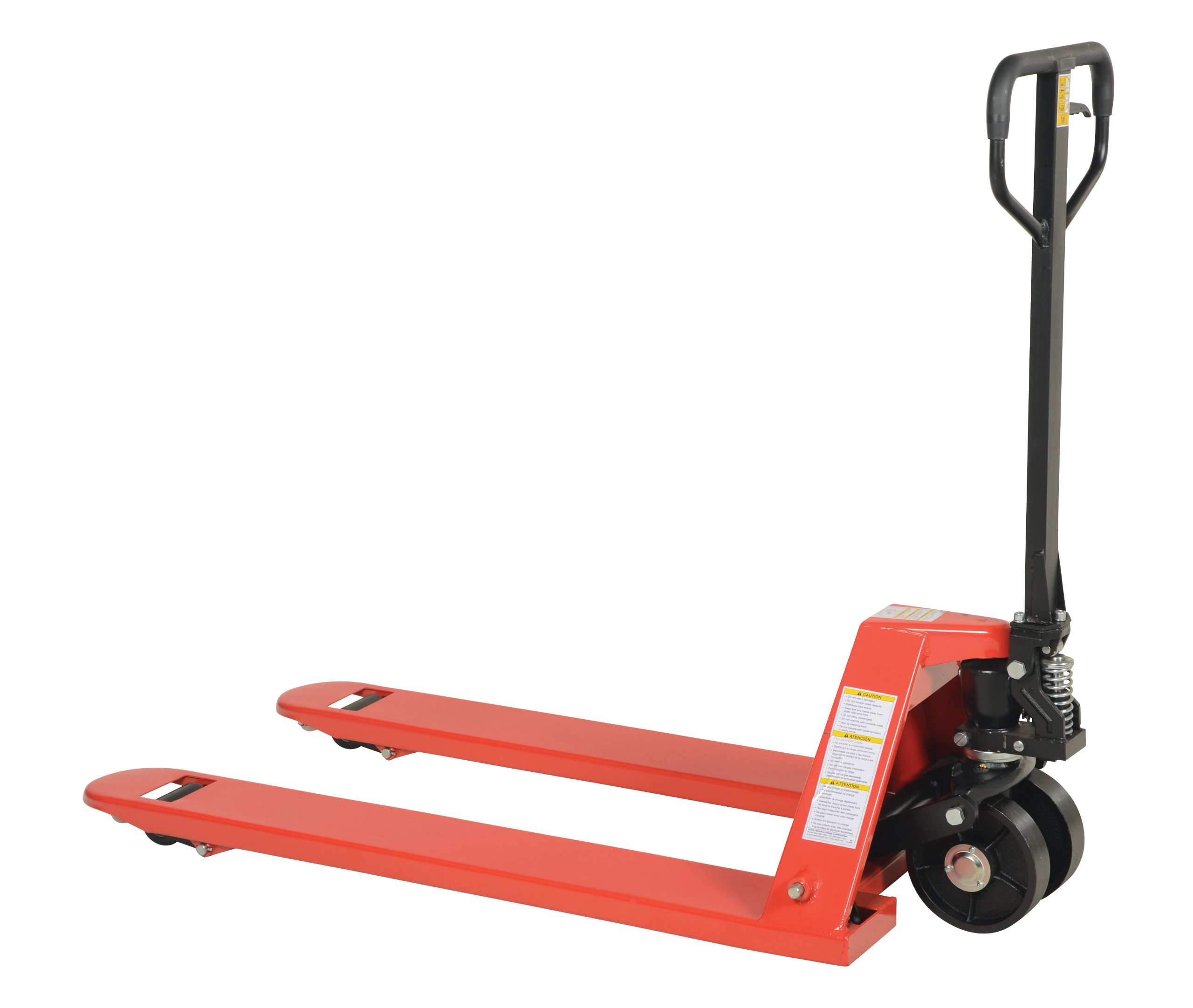 Vestil PM5-2748-S Full Featured Pallet Truck with Steel Wheels, 5500 lbs Capacity, 48'' Length x 27'' Width Fork