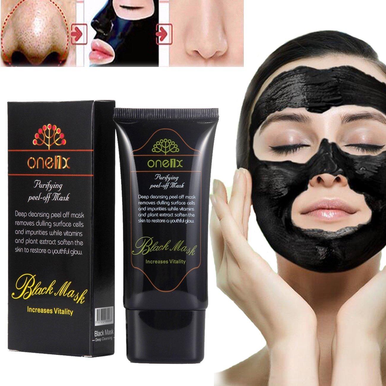 Blackhead masks, Face Mask, Blackhead Remover Black Mud Mask, Facial Care Tearing style Deep Clean Blackhead Removal Cleaning Mineral Mud Peel Off Mask (50ml) Boolavard