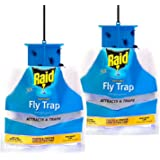 Raid Fly Trap (2-Pack), Outdoor Fly Trap, Disposable Fly Trap Bag, House Fly Trap with Food-Based Attractant, Hanging…