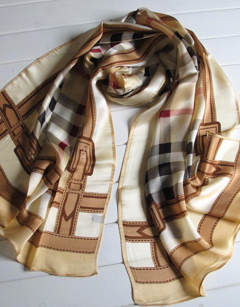 DIDIDD Pañuelos de seda de seda de mora de alta calidad del otoño-invierno de las bufandas-señoras,C