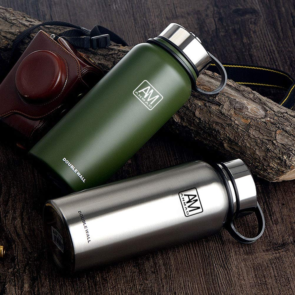 AM ANMAO Vacuum Insulated Stainless Steel Water Bottle Keeps Drinks Hot for 24 Hours - Sweat Proof Sport Design Cold for 12 Hours 27oz 800ml