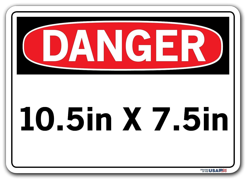12.5X9.5 ALUMINUM .080 Vestil Spanish Danger Sign SI-D-64-B-AL-080-S PUNTO DE PELLIZCO MANTENER LAS MANOS FUERA Pinch Point Keep Hands Clear