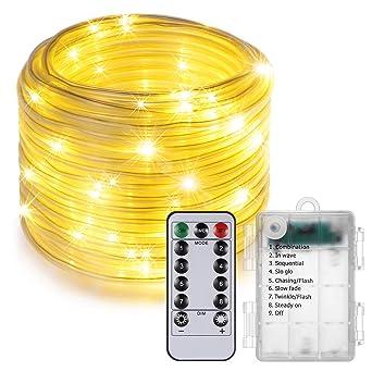 Weihnachtsbeleuchtung Led Fernbedienung.Shinepick Led Lichtschlauch Batterie 10m 100 Led Fernbedienung Timer 8 Modi Wasserdicht Lichterkette Außen Weihnachtsbeleuchtung Für Innen Aussen
