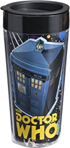Vandor 16051 Doctor Who 16 oz Plastic Travel Mug, Multicolor