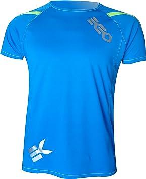 CAMISETA EKEKO T RACE DE MANGA CORTA PARA HOMBRE, running, atletismo, y deportes en general. (XL, AZUL)