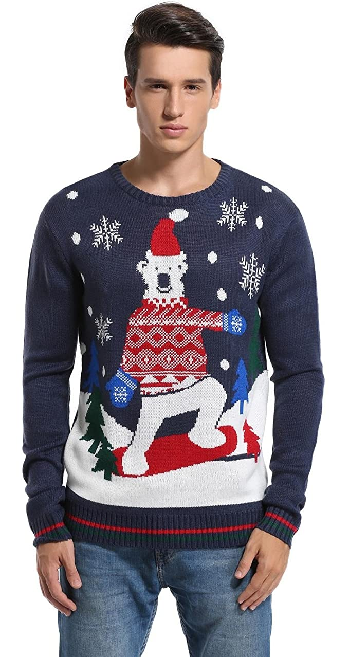 4d26bd099fa6  daisysboutique  Men s Christmas Holiday Sweater Cute Bear Ugly Pullover