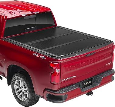 Amazon Com Gator Efx Hard Tri Fold Truck Bed Tonneau Cover Gc14018 Fits 2014 2018 2019 Ltd Lgcy Chevy Silverado Legacy Gmc Sierra Limited 1500 W Rail System 5 8 Bed Automotive