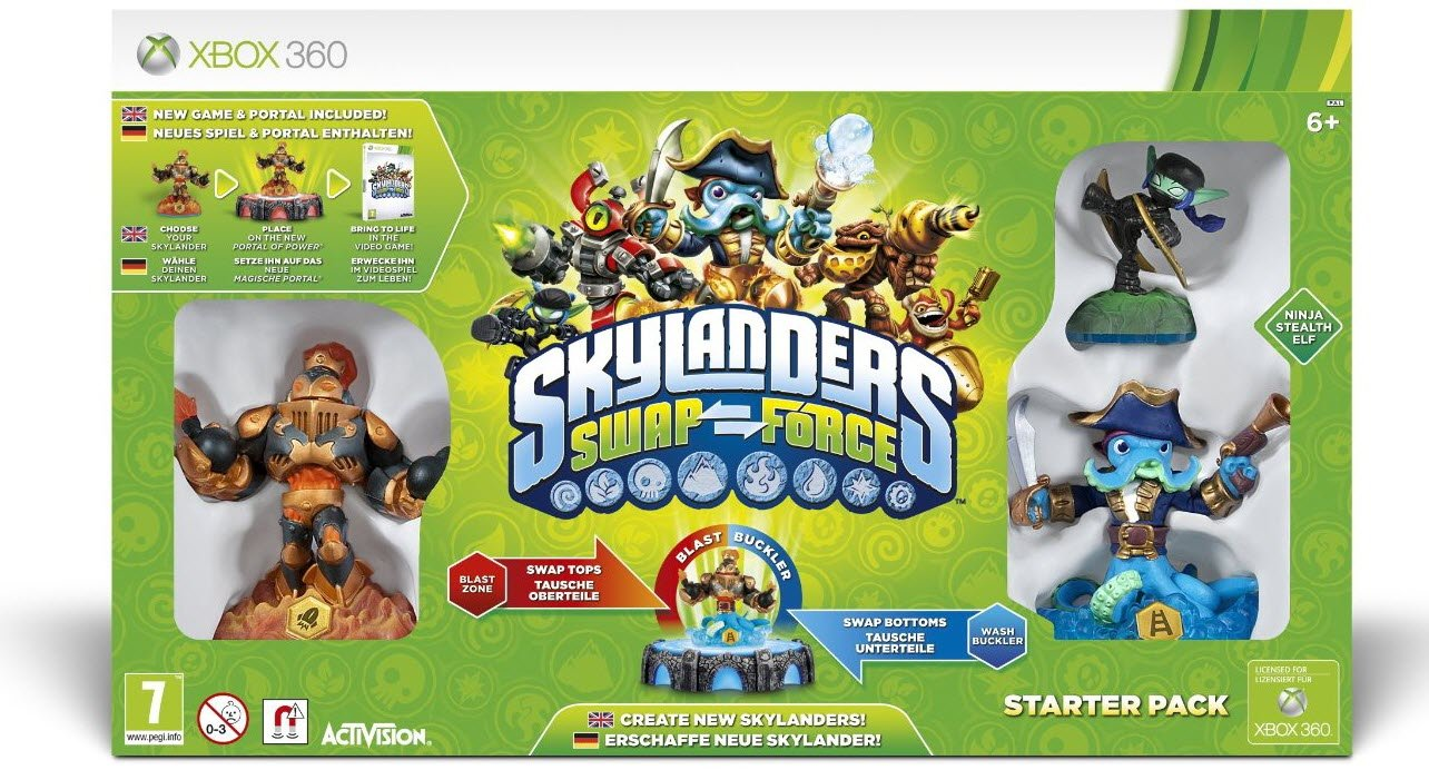 skylanders swap force starter pack xbox 360 amazoncouk pc video games