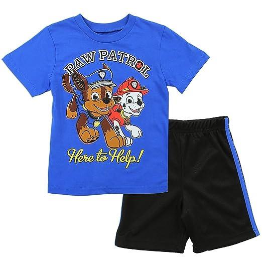 c9d4b8986 PAW Patrol Toddler Boys 2 Piece Tee & Mesh Short Clothing Set in Sizes: 2T