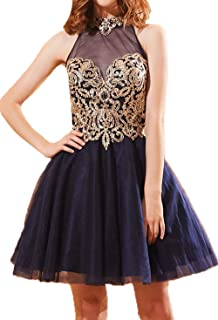 bf926de725f BessDress Gold Lace Appplique Quinceanera Dresses Long Sleeves Prom Ball  Gown BD389