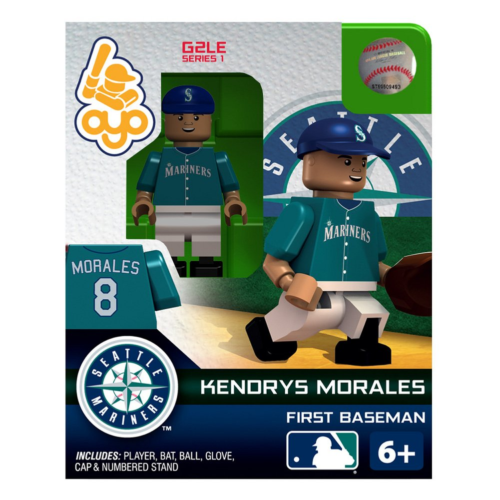 MLB Alternate Jersey Building-Toy Figure MLB Player Morales Seattle Mariners