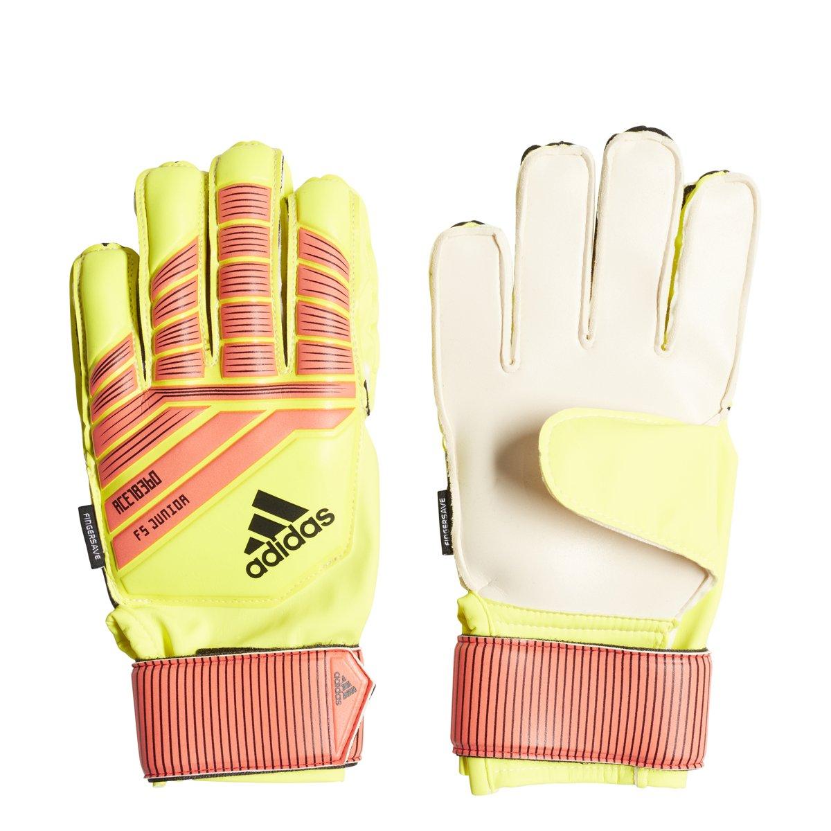 Adidas Predator Fingersaveジュニアサッカー手袋 B0788D57LH Size 7|Solar Yellow/Solar Red/Black Solar Yellow/Solar Red/Black Size 7