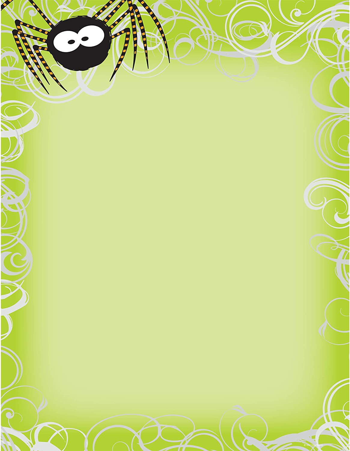 """Great Papers! Halloween Spider Swirls Letterhead and Printer Paper, Imprintable Stationery, 80 Sheets, 8.5"""" x 11"""" (2014063)"""
