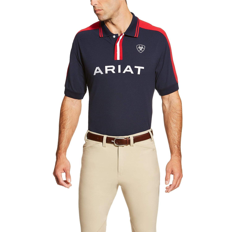 e898b033 Ariat Mens New Team Polo Shirt: Amazon.co.uk: Sports & Outdoors