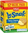 UNCLE TOBYS Le Snak Tasty Cheese Dip & Crackers Value, 1 box of 12, 264g