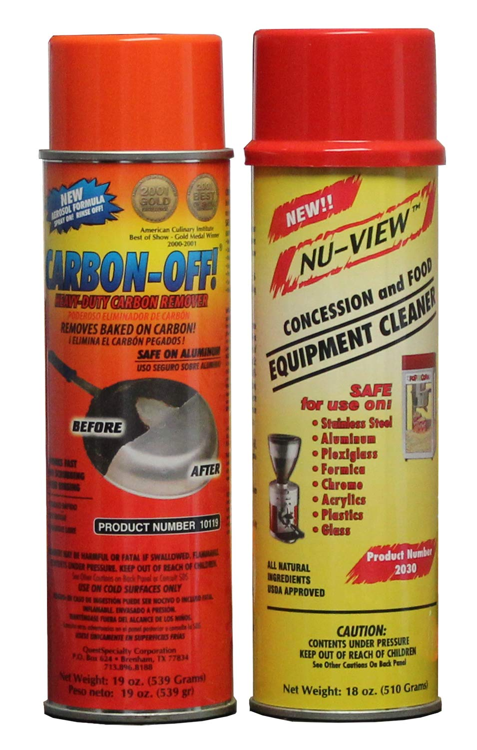 Carbon Off Cleaner & Nu View Concession Cleaner by Discovery Products