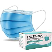 50 PCS Disposable Face Masks Protection 3 Ply Pollution Health Dust Filter Safety...