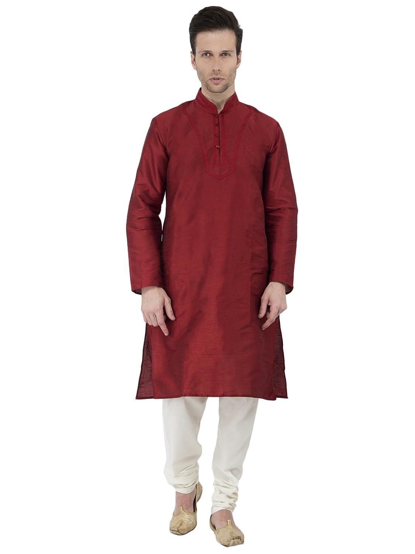 Kurta Pajama Long Sleeve Button Down Shirt Indian Pyjama Handmade Yoga Clothing Mens Summer Party Wear SKAVIJ