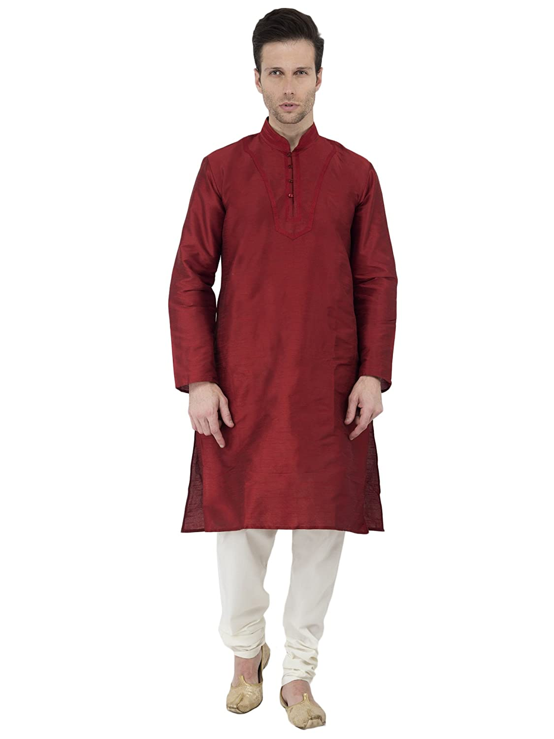 Kurta Pajama Long Sleeve Button Down SKAVIJ