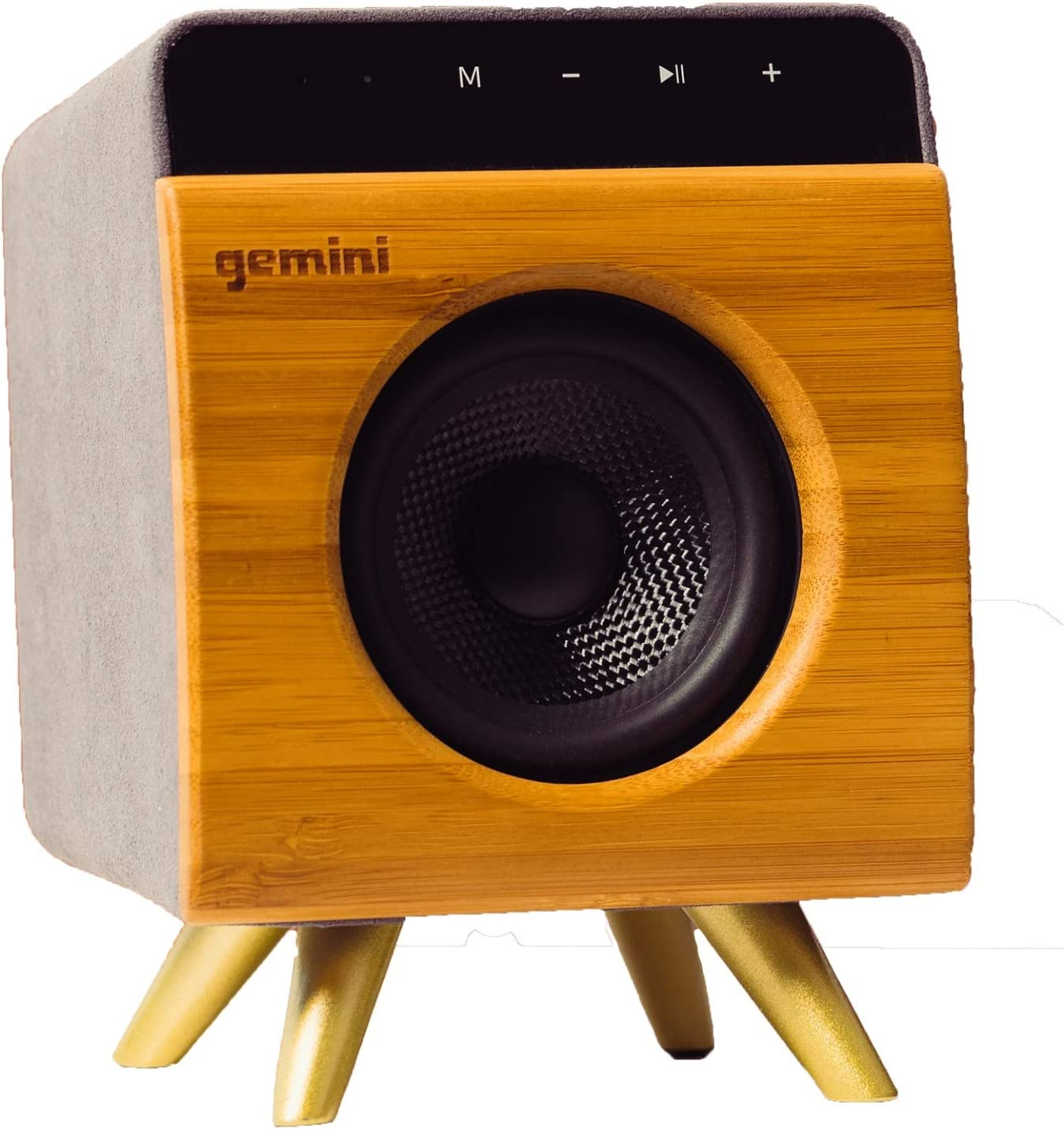 Gemini BRS-9 Portable Bluetooth Speaker 9W Stereo Sound with Built-in  Mic and Battery, USB/SD Playback, 9.9MM Auxiliary Input, Wireless Speaker  for